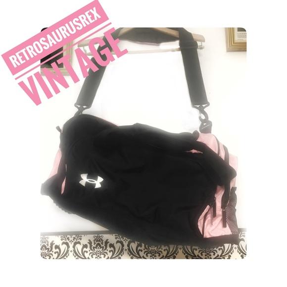 ce99e01ed2 Pink   Black Under Armour Duffel Gym Bag Large. M 5ad18e51a44dbe0444909d6b